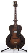 Musical Instruments:Electric Guitars, Epiphone Sunburst Archtop Electric Guitar #60156....