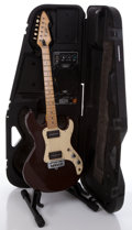 Musical Instruments:Electric Guitars, Peavey T-15 Mocha Solid Body Electric Guitar & Amplifier Case#00900481....