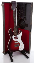 Musical Instruments:Electric Guitars, 1960's Silvertone 1448 Red Sunburst Electric Guitar And Amplifier Case Serial# 185.11090. . ...