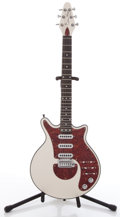 Musical Instruments:Electric Guitars, Brian May Signature White Solid Body Electric Guitar, #BHM06926....