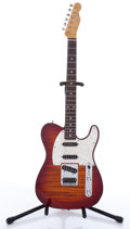 Musical Instruments:Electric Guitars, 1993 Fender Telecaster Custom Foto Flame Sunburst Electric Guitar,#T034173....