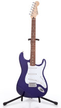 Musical Instruments:Electric Guitars, 2001 Fender Stratocaster Purple Electric Guitar, #MZ0252222....