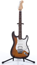 Musical Instruments:Electric Guitars, 1994 Fender Squier Floyd Rose Stratocaster Sunburst ElectricGuitar, #O006539....