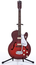 Musical Instruments:Electric Guitars, Vintage Harmony Rocket Red Semi-Hollow Body Electric Guitar,#5599H54....