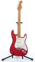 Musical Instruments:Electric Guitars, 1996 Fender Stratocaster Red Electric Guitar, #U011281....