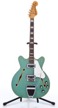 Musical Instruments:Electric Guitars, 1971 Fender Coronado II Aqua Semi-Hollow Body Electric Guitar#307725....