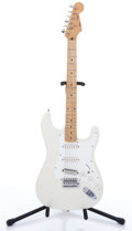 Musical Instruments:Electric Guitars, 1995 Squier By Fender Stratocaster White Electric Guitar,#S930313....