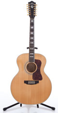 Musical Instruments:Acoustic Guitars, 1990s Guild JF-65-12 Natural 12 String Acoustic Guitar #JF65071...