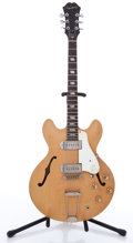 Musical Instruments:Electric Guitars, 1965 Epiphone Casino P-90 Natural Semi-Hollow Body Electric Guitar#175896...