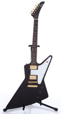 Musical Instruments:Electric Guitars, 1999 Epiphone Explorer Black Solid Body Electric Guitar,#U99032193....