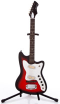 Musical Instruments:Electric Guitars, 1960's Holiday 3/4 Scale Red Burst Solid Body Electric Guitar#N/A....