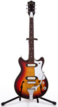 Musical Instruments:Electric Guitars, 1960s Norma Sunburst Semi-Hollow Body Electric Guitar ...