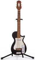 Musical Instruments:Electric Guitars, Vintage Decar 3/4 LP Copy Black Solid Body Electric Guitar #N/A....