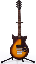 Musical Instruments:Electric Guitars, 1960's Epiphone Olympic Sunburst Solid Body Electric Guitar#004403....