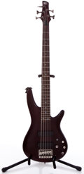 Musical Instruments:Bass Guitars, 2005 Ibanez SR505 Cherry Electric Bass Guitar #CP05065854....