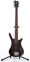 Musical Instruments:Electric Guitars, Warwick RockBass Corvette 5 Black Electric Bass Guitar #K-036035...