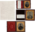 Military & Patriotic:Civil War, Rare Civil War Grouping of Three Images of the Same 1st Nebraska Inf. Soldier with Great ID.... (Total: 3 Items)