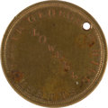 Military & Patriotic:Civil War, Brass Civil War ID Tag for George H. Hill 1st and 4th Mass. Cav....