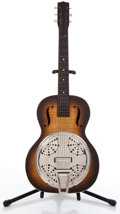 Musical Instruments:Acoustic Guitars, 1940s Harmony Sunburst Resonator Guitar ...
