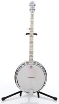 Musical Instruments:Banjos, Mandolins, & Ukes, 1940s Bacon & Day Senorita with Resonator Sunburst Pearloid 5 String Banjo ...