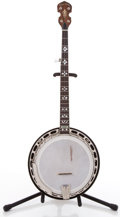 Musical Instruments:Banjos, Mandolins, & Ukes, 2004 Gold Tone with Resonator Brown Stain 5 String Banjo ...