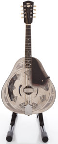 Musical Instruments:Banjos, Mandolins, & Ukes, 1930s National Triolian Resonator Chrome Mandolin #C4607...