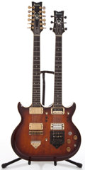 Musical Instruments:Electric Guitars, 1978 Ibanez Artist 2640 Doubleneck Brown Stain Solid Body ElectricGuitar #J786485...