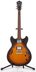 Musical Instruments:Electric Guitars, Ibanez Artcore AS73-BS-12-01 Sunburst Archtop Electric Guitar,#S05081234....