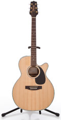 Musical Instruments:Acoustic Guitars, Takamine EG460SC Natural Acoustic Electric Guitar #TC09122397....