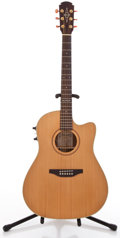 Musical Instruments:Acoustic Guitars, Alvarez 5086 Natural Acoustic Electric Guitar #866367....