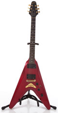 Musical Instruments:Electric Guitars, 1982 Gibson Flying V2 Red Solid Body Electric Guitar, #80842029....