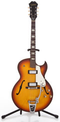 Musical Instruments:Electric Guitars, Vintage Epiphone E452T Sorrento Sunburst Semi-Hollow Body ElectricGuitar #434364....