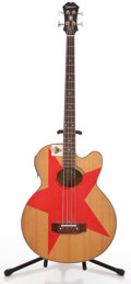 Musical Instruments:Acoustic Guitars, 1998 Epiphone El Capitain Natural Electric Bass Guitar #S98080005....