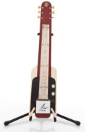 Musical Instruments:Lap Steel Guitars, Vintage National Rocket One Ten Red / White Lap Steel Guitar #X84611....