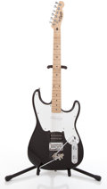 Musical Instruments:Electric Guitars, 2005 Squier Strat Black Solid Body Electric Guitar #IC050730926....