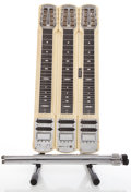 Musical Instruments:Lap Steel Guitars, Vintage Fender Stringmaster White Triple Neck Steel Console,#2314....