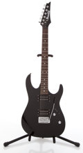 Musical Instruments:Electric Guitars, Ibanez GIO Black Solid Body Electric Guitar #Z810532....