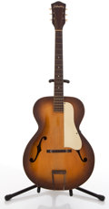 Musical Instruments:Acoustic Guitars, Vintage Silvertone Tobacco Burst Archtop Acoustic Guitar #N/A....