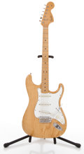 Musical Instruments:Electric Guitars, 1986 Fender Stratocaster Natural Solid Body Electric Guitar#B000575....