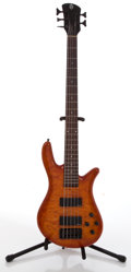 Musical Instruments:Bass Guitars, Spector 5-String Flame Top Electric Bass Guitar #0101282....