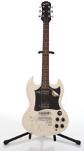 Musical Instruments:Electric Guitars, 1998 Epiphone SG White Electric Guitar, #I98080183....