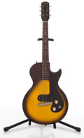 Musical Instruments:Electric Guitars, 1960 Gibson Melody Maker 3/4 Sunburst Solid Body Electric Guitar #03181....