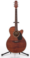 Musical Instruments:Electric Guitars, Takamine EF 440 Mahogany Acoustic Electric Guitar #09030581....