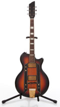 Musical Instruments:Electric Guitars, 1960's Airline Sunburst Solid Body Electric Guitar #T12172....