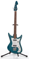 Musical Instruments:Bass Guitars, Vintage Teisco Teal Electric Bass Guitar #N/A....