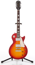 Musical Instruments:Electric Guitars, 2007 Epiphone Les Paul Standard Cherry Burst Solid Body ElectricGuitar #EE070608139....