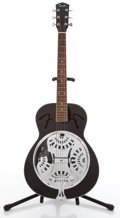 Musical Instruments:Resonator Guitars, Fender Black Resonator Guitar #KL01050285....
