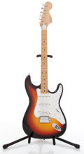 Musical Instruments:Electric Guitars, 1970's Hohner Strat Copy Sunburst Solid Body Electric Guitar#N/A....