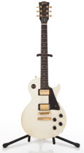 Musical Instruments:Electric Guitars, 1987 Gibson Les Paul Studio White Solid Body Electric Guitar#83557559....