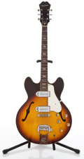 Musical Instruments:Electric Guitars, Vintage Epiphone E230TD Casino Sunburst Semi-Hollow Body ElectricGuitar #869596....